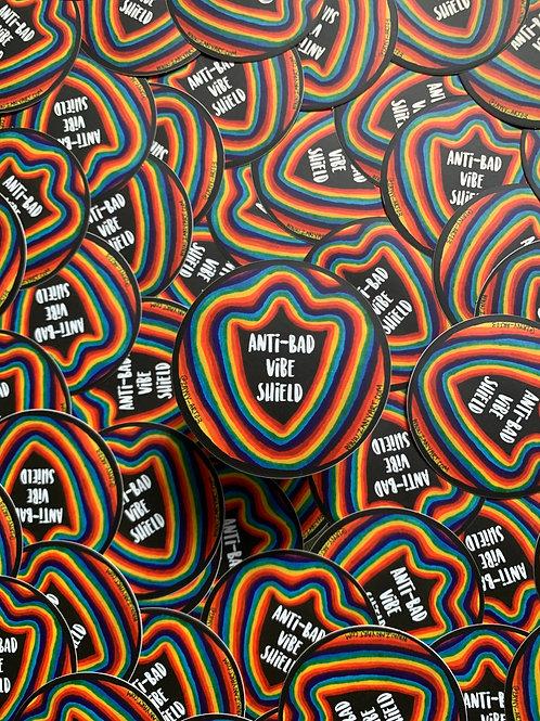 Anti-Bad Vibe Shield Sticker