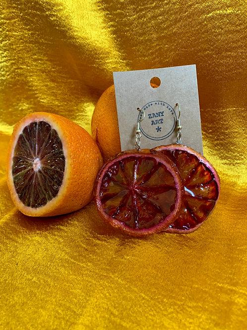 Blood  Orange Earrings