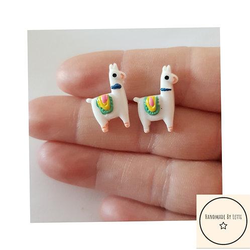 Little Llamas stud earrings/ resin