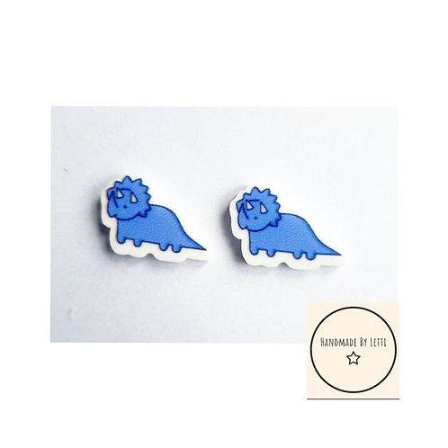 Dinosaur mini studs blue