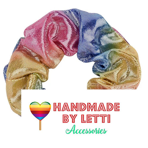 Rainbow 80s scrunchie / ava