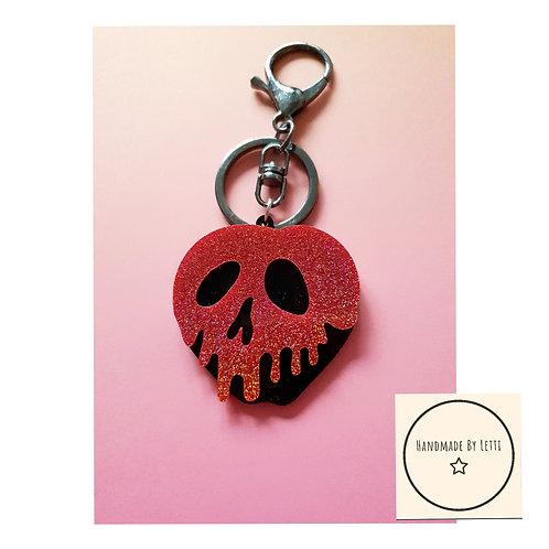 Poison apple bag key chain / acrylic / halloween