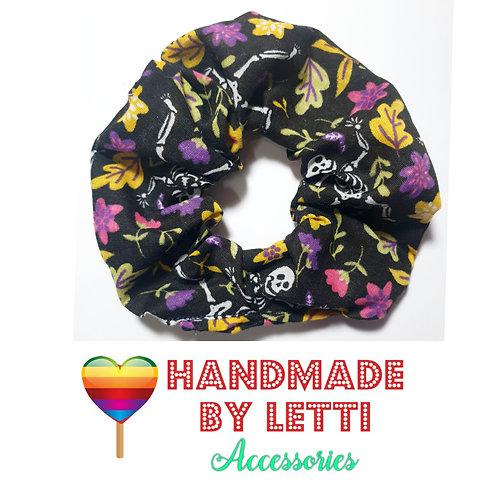 Handmade funny bones  hair  scrunchie
