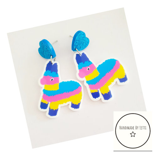 Piñata party stud dangle drop earrings // XL acrylic