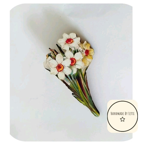 Daffodil Wooden Brooch🌼 handmade ✨ Perfect Gift ✨Nature💕large