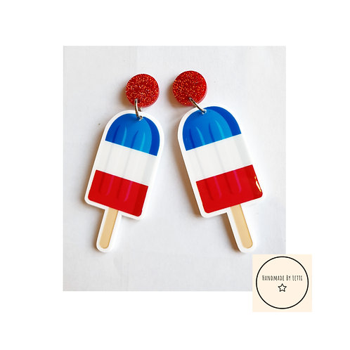 Extra large ice lolly Stud dangle earrings