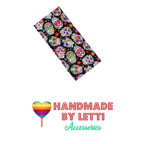 Magic bandana multifunction -sugar skull love / polyester Jersey 3d printed