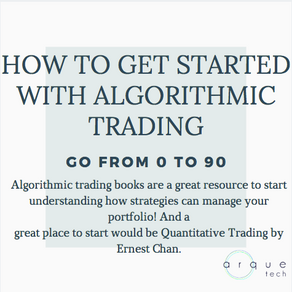 Getting started with Algorithmic Trading.