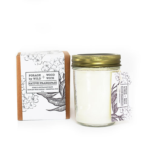 Wild Forage Native Frangipani Soy Candle 140z