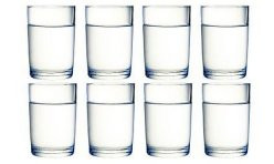 8oz x 8 water glasses