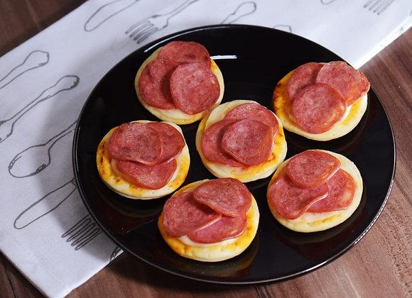 (25 Unid.) Mini Pizzas de Calabresa