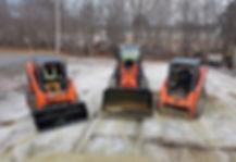 RnS Landscaping Compact Backhoe & Dump Trailer excavating