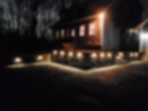 casey concrete highland retaining wall in-lite hyde lights landscape lights