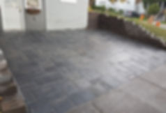 interlock paver driveway, retaining walls, highland wall