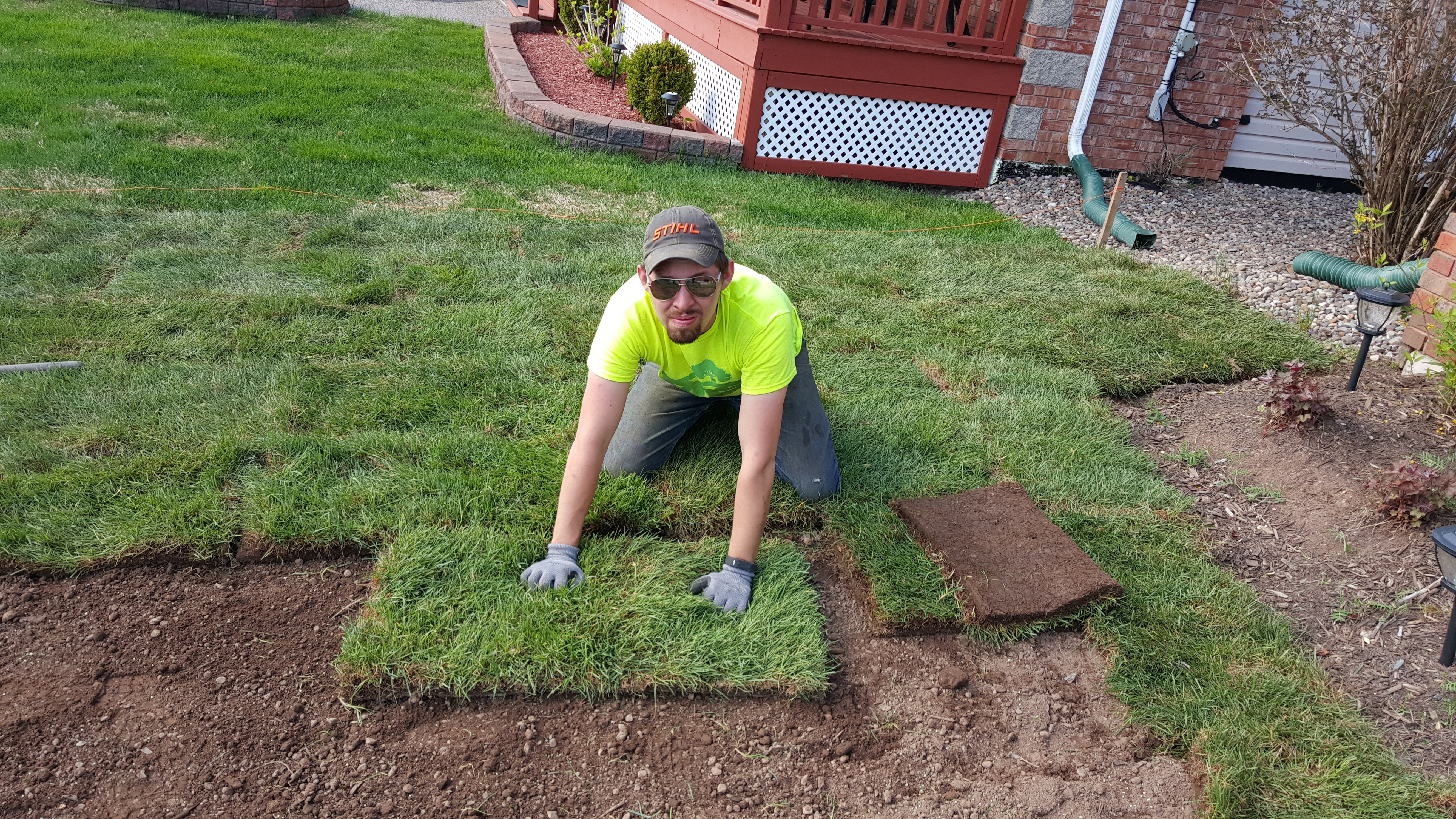 Richard laying Sod
