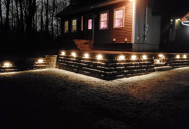 casey concrete highland retaining wall in-lite hyde lighting landscape lighting front steps entrance