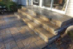stairs, steps, landing, patio, blu60 slate, allen block steps
