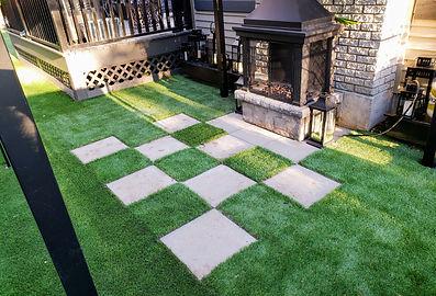 rymar everblade 80 dog run casey concrete patio fireplace backyard artificial turf