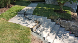 Side Walkway and Natural Stone Steps