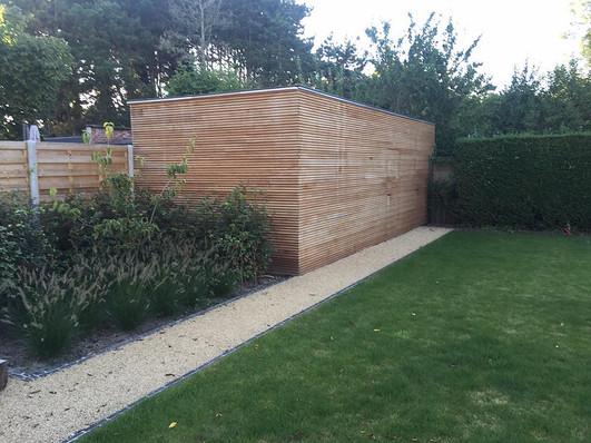 Tuinhuis met ingewerkte deur (eik)