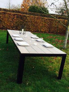 Eet-/tuintafel met steigerhout
