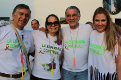 Alvaro Villanueva, Maria Clara Diaz Granados, Eduardo Verano y Liliana Borrero