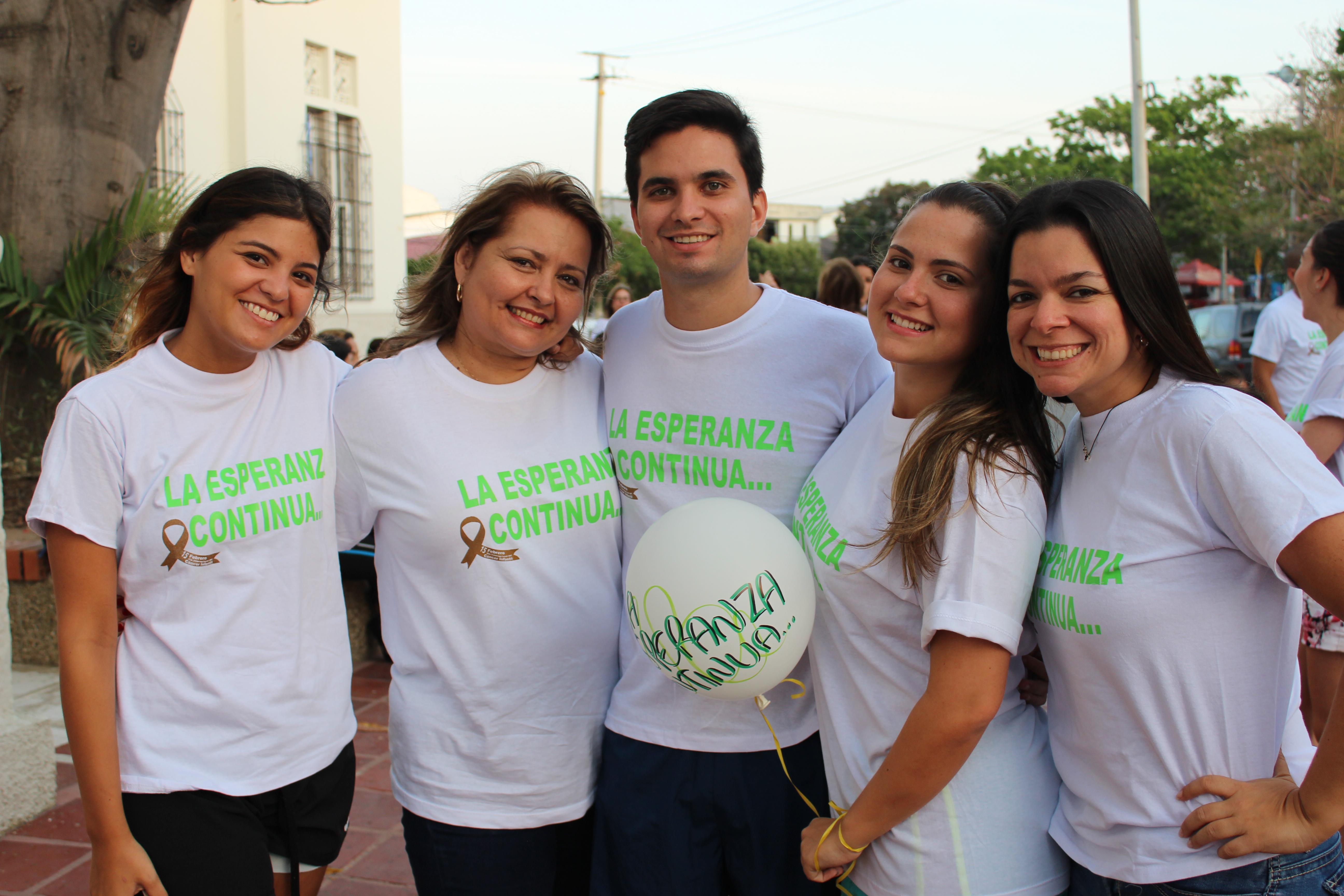 Carolina Dangond, Diana Cabrera, Ramiro Martelo, Angie Fiorillo y Ma. Angelica Fiorillo