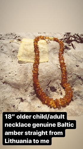 "18"" Amber Necklace"