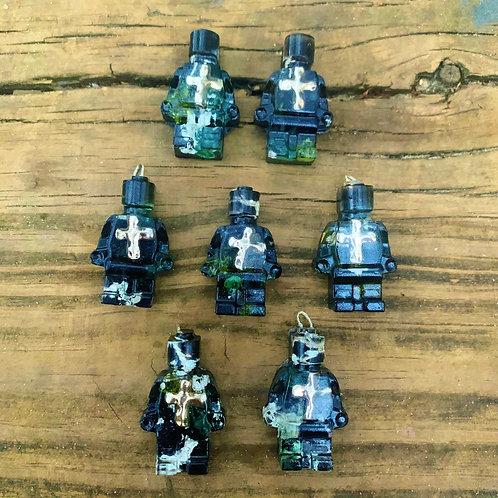 Shungite Orgone Cross LEGO Dude Necklace (8 available)