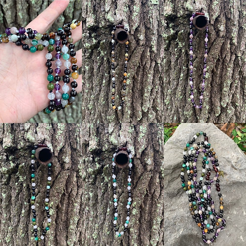 """18"""" Crystal & Shungite Necklace"""