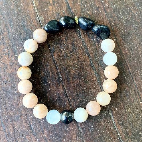 Sunstone & Shungite Bracelet
