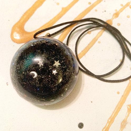 Galaxy Orgone Necklace with Shungite, Black Tourmaline & Pyrite