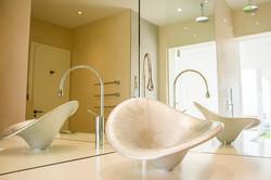 Guest bathroom - sink & mirror detail