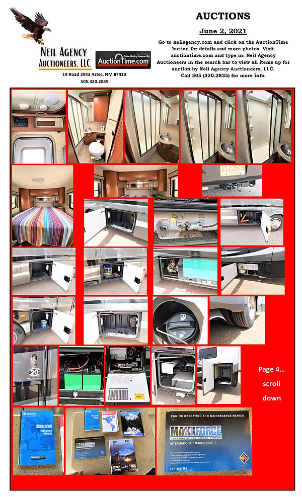 Hollimon Auction Flyer Page Motorhome 4.