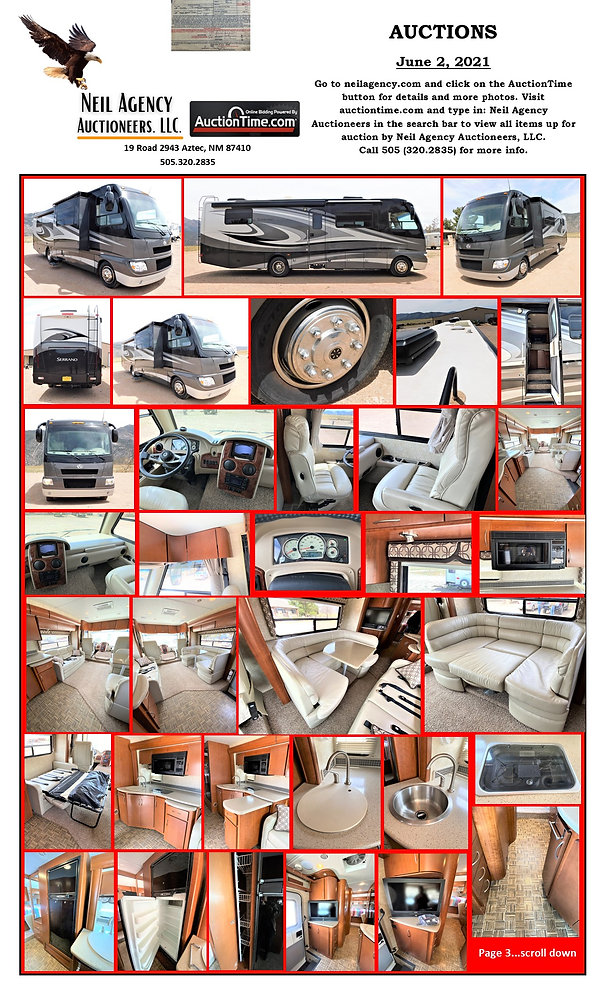 Hollimon Auction Flyer Page Motorhome 3.