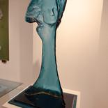 מבט כחול - מוזיאון הזכוכית ערד - פסל זכוכית