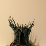 עץ הבאובב (עץ הלחם) - מוזיאון הזכוכית ערד - פסל זכוכית
