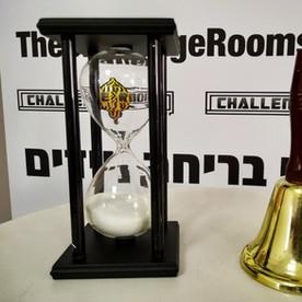 שעון זמן ופעמון לחדר בריחה נייד