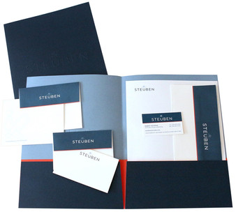 new design for stationary, notecards, business cards, folders