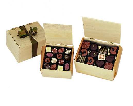 Wooden Box of Chocolate Truffles