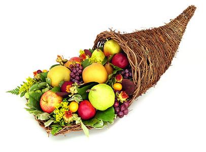 Thanksgiving Fruit Cornucopia