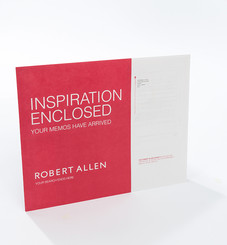 New mailing packaging designed for Robert Allen