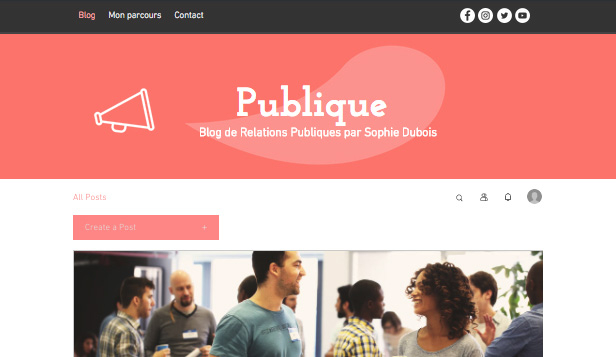 Blogs et forums website templates – Blog Relations Publiques