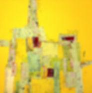 70X70 Acryl på lærred collage(SOLGT)