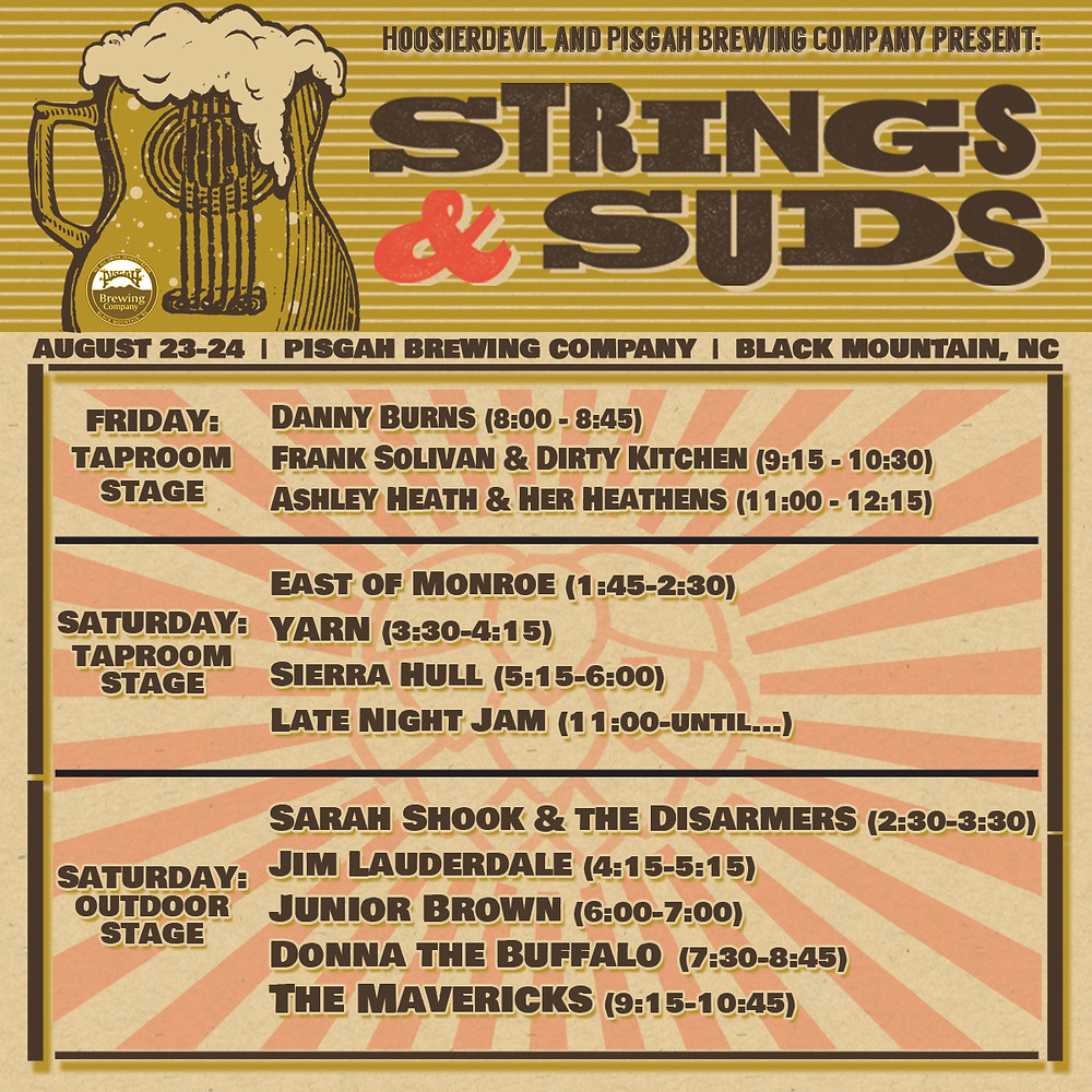 Strings & Suds Daily Schedule