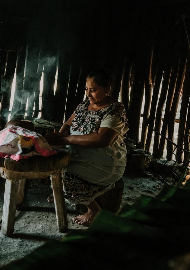 Grandma Aurelia making tortillas