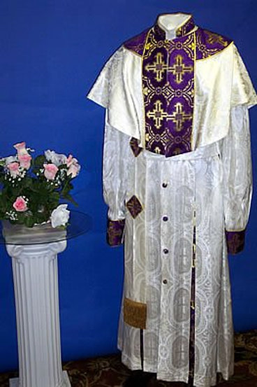 Full Brocade Bishop Cassock