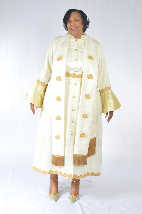 3- Piece Full Brocade Jozie Ordination Cassock