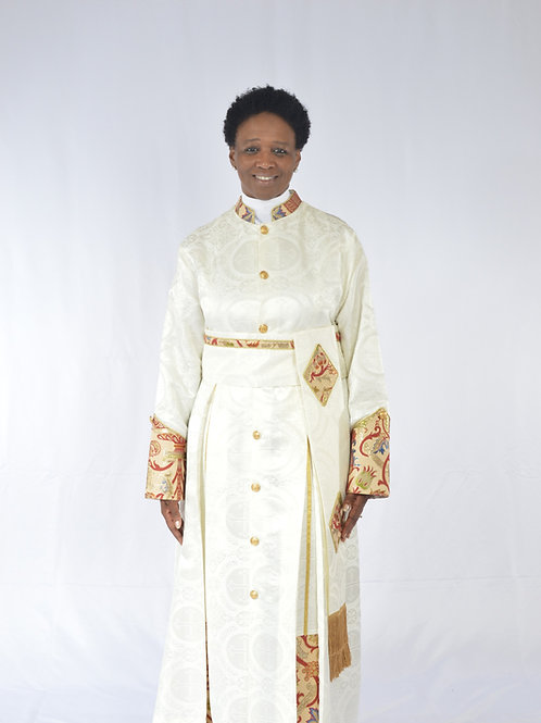 Full Brocade Ladies Cassock w/ Cincture Belt