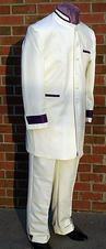 Men's Suit with brocade trim